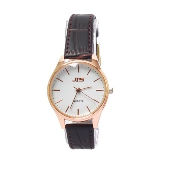 JIS 1023 Simple Petite Leather Watch (Gold) #0127