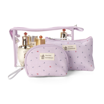 Korean-style small portable makeup bag transparent cosmetic bag