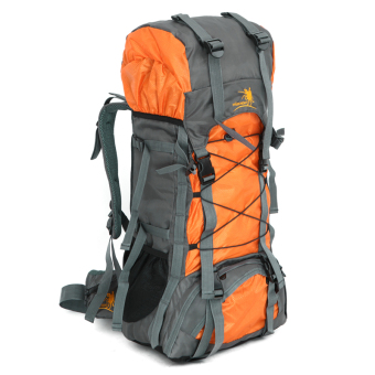 Large hiking camping backpack Outdoor sports bag waterproofbackpack 47L Orang