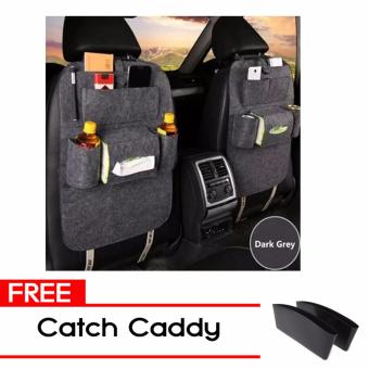 MMC Car Seat Felt Cloth Hanging Organizer Car Seat Back Storagewith Free Catch Caddy