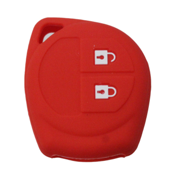 Muchkey Silicone Key Case Cover Skin Jacket fit for SUZUKI 2 ButtonRemote Key 1pc (Red) - Intl