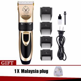 Pet Cat Dog Hair Trimmer Low Noise Clipper Shaver Grooming Kit Set - intl