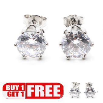 Piedras jewelry cubic ziconia earrings in 18k micron plating buy 1take 1