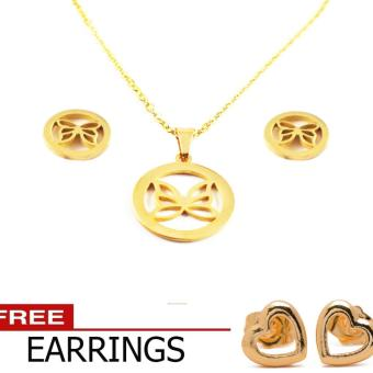 piedras jewelry mother tree set earring pendant 18k gold plating with free earrings