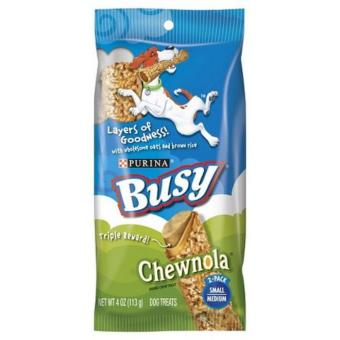 Purina Busy Chewnola Small Medium Dog Treats 113g