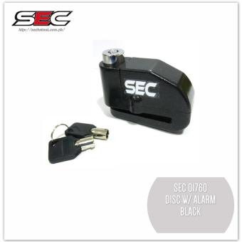 SEC 01760 Anti-theft Motorcycle Bicycle Disc Lock with Alarm