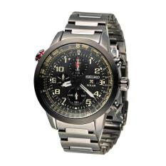 PHP 14.210. Seiko Watch Prospex Solar Chronograph Black Stainless-Steel Case Stainless-Steel Bracelet Mens Japan NWT + Warranty ...