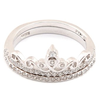 Silverworks R6207 Crown Design Ring (Silver)