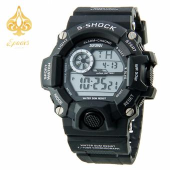 SKMEI 1019 Digital Watch Men Black Wrist Watch
