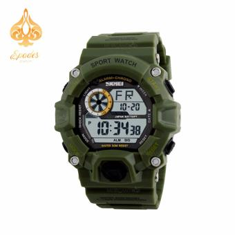 SKMEI 1019 Digital Watch Men Green Wrist Watch