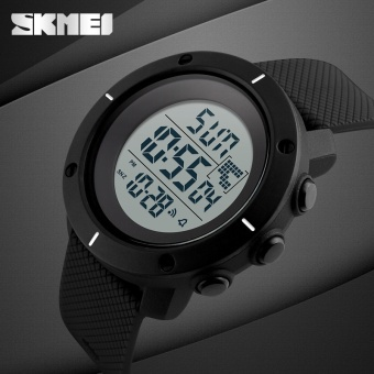 SKMEI Brand Watch Men Big Dial Sports Watches Multifunction Chronograph 50M Water Resistant Alarm Back Light Date Digital Wristwatches 1213 - intl