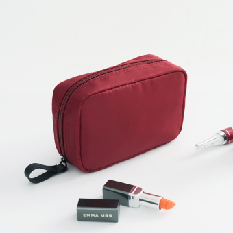 Small portable female Cosmetic Bags makeup bag