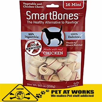 Smart Bone Mini Chicken Dog Treats Chews (16 Pack) 258g For Petsand Dog Chew Bone