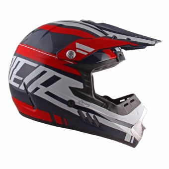 Spyder Motocross Helmet Dirt G 765 (Navy Blue/Red/White) -Large