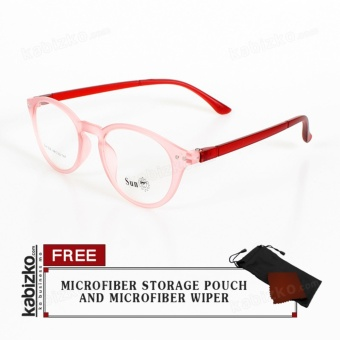 Sun Sunglasses Oval Unisex Eyewear Light Pink/Red