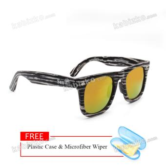 Sun Wood Frame Sunglasses Oversized Unisex Eyewear