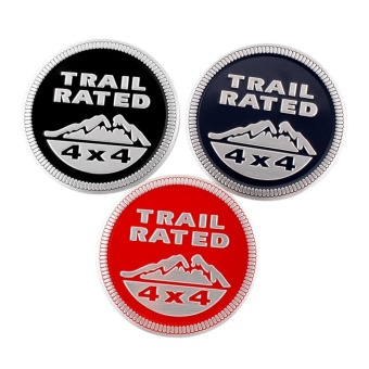 SUV Trail Rated 4x4 Emblem Decal Sticker Badge Medal Paster For Jeep Land Rover - intl