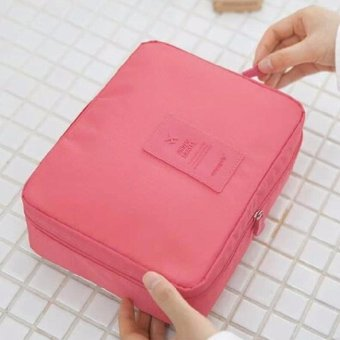 Unisex Waterproof nylon Travel Cosmetic Make Up Toiletry HolderBeauty Wash Organizer Storage Purse Bag Pouch