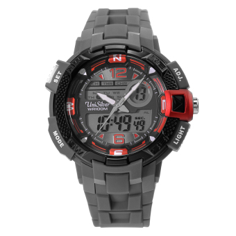 UniSilver TIME Crosspath Men's Rubber Watch KW2025-1001 (Gray)