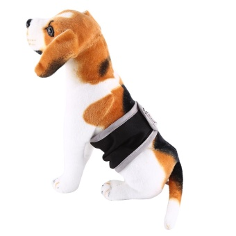 Washable Male Pet Dog Belly Wrap Diaper Physical Pants (Black S) -intl
