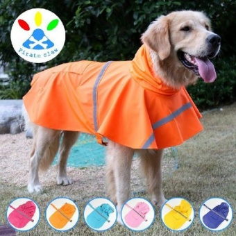 (XXL) large big dog raincoat Pet Apparel Dog Clothes Dog RaincoatPet Jacket Rain Pet Waterproof Coat Dog rain clothing - intl