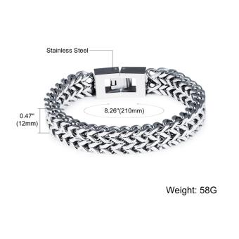 ZUNCLE Men's Personalized Square Scales Titanium Steel Bracelet(Silver) - picture 2