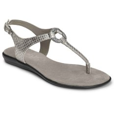 Aerosoles Chlassring Sandals (Snake Silver)
