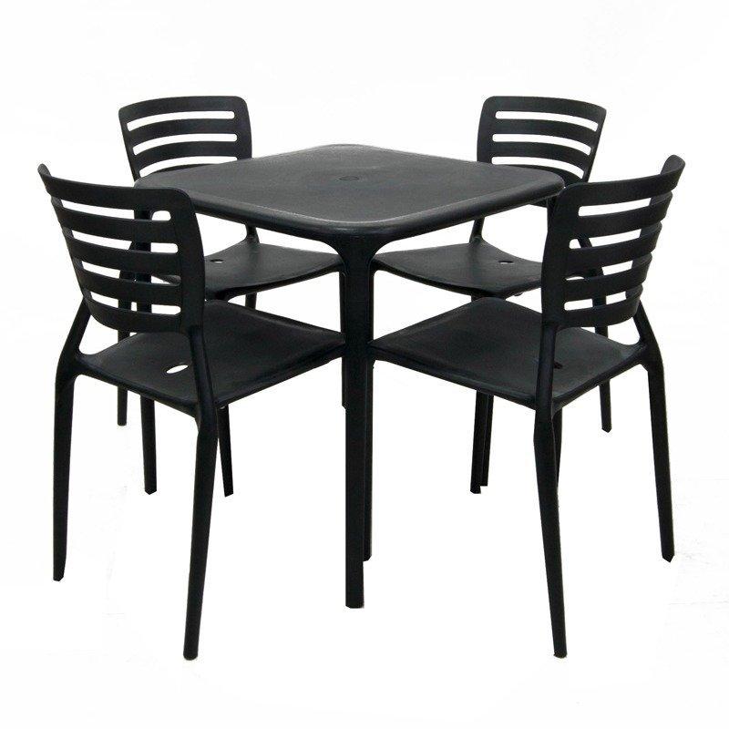 Cofta Gardenia Table with Chair 5 piece Set BrownWhite  : cofta tulip table and chair 5 piece set black 1891 875404 1 zoom from www.lazada.com.ph size 850 x 850 jpeg 67kB
