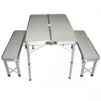 Picnic Camping Table And Xtype Chairs Set Silver Lazada PH