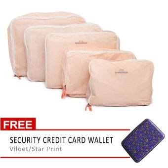 travel manila piece waterproof packing cubes pink