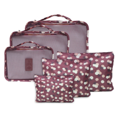 travel manila packing bags polka navy blue