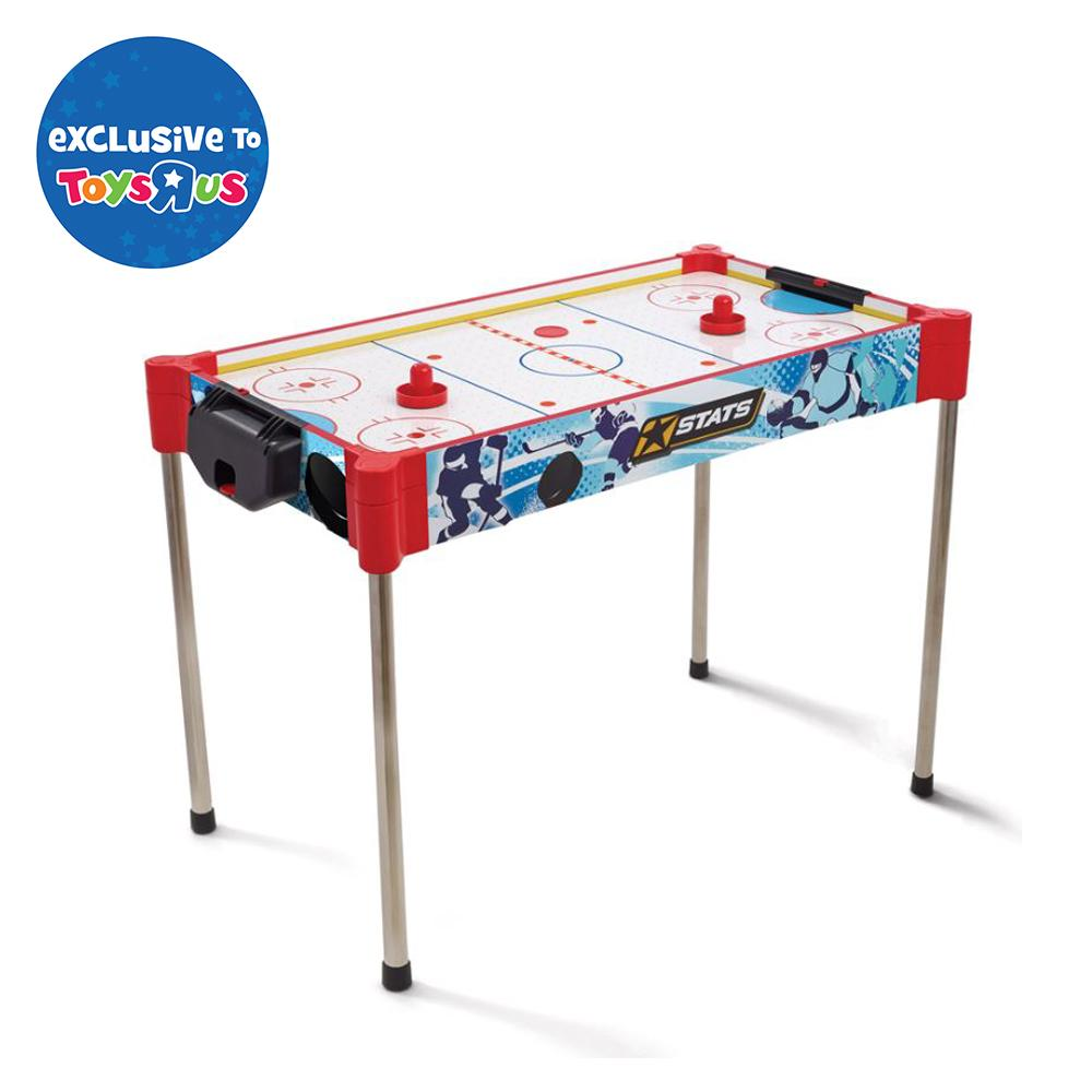 Indoor Games Puck And Felt Pusher Air Hockey Game Table 8-piece Plastic Accessory Red Mallet Elegant Shape Air Hockey