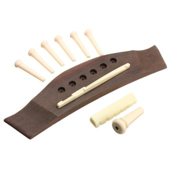 1 Set Professional Universal Acoustic Guitar Bridge + Bone Bridge Pins/Saddle/Nut Saddle Guitar Parts & Accessories - intl Price Philippines