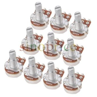10pcs Linear B500K Pot Volume Tone Potentiometers Switches Electric Guitars Bass