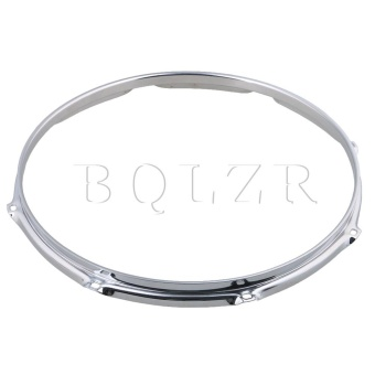14 Inch 8 hole Snare Drum Hoops Rims for Drums and PercussionSilver - intl