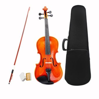 1/8 Violin Fiddle Basswood Steel String Arbor Bow StringedInstrument Musical Toy for Kids Beginners Outdoorfree - intl