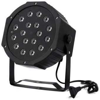 18W RGB LED Flat Par Light Stage Lamp Disco DJ Bar Effect UPLighting EU PLUG - intl