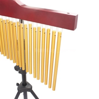 25-Tone Golden Bar Chimes 25 Bars Single-row Wind Chime MusicalPercussion Instrument with Tripod Stand - 4