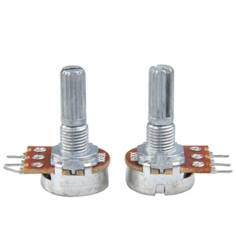 2x B500K Guitar Split Shaft Linear Taper Potentiometer Volume TonePot - intl