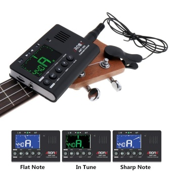 3 in 1 Guitar Metronome Tuner Tone Generator Large LED ScreenBuilt-in Mic with Pickup Function for Chromatic / Violin / Ukulele/ Guitar / Bass - intl