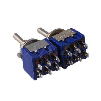 3 Way Toggle Switch on/off/on Set of 2 Blue - picture 2