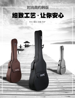 36 inch thick waterproof bag harp guitar backpack shoulders - intl - 2