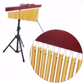 36 Tone Golden Bar Chimes Single-row Musical Percussion Instrumentwith Tripod Stand