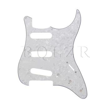 3PLY SSS Pearl Cotton pickguard For Guitar White