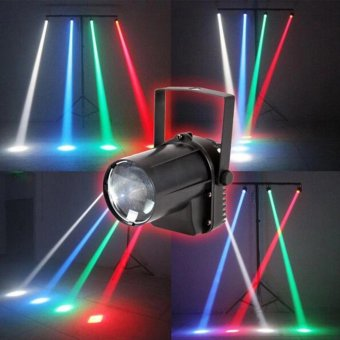 3W Colorful RGB LED laser Pin Spot Stage Light Disco DJ Show BeamEffect Lighting - intl