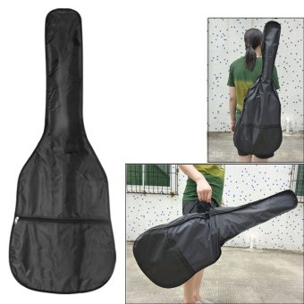 41 Inch 420D Oxford Cloth Electric Acoustic Wooden Guitar Bag Straps Case With Zippered Pocket Design Black