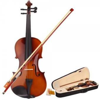4/4 Acoustic Violin with Case Bow Rosin for Violin Beginner Natural - intl