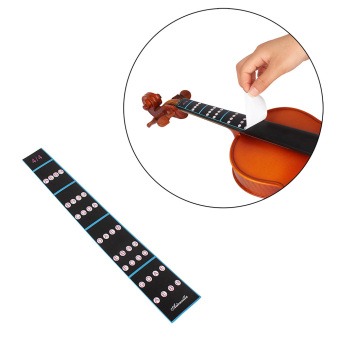 4/4 Violin Fiddle Finger Guide Fingerboard Sticker Label IntonationChart Fretboard Marker for Practice Beginners - intl