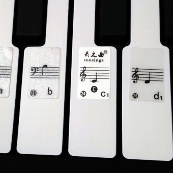 49 61 88 Key Electronic Keyboard Piano Numbered Notation NoteSticker - intl