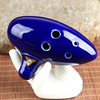 6 Holes New Ocarina Ceramic Alto C Legend Of Zelda Ocarina FluteBlue Instrument - intl